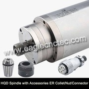 Water Cooled Spindle Motor HQD 2.2kw 3.2kw 4.5kw 5.5kw for CNC Router