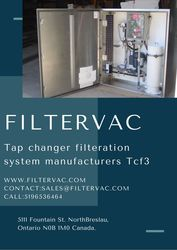 Advanced Tap changer oil filtration system (TCF3 & TCF5) – Filtervac